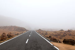 Mountain road at Tenerife Royalty Free Stock Photos