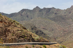 Mountain road on Tenerife (Canary Islands) Royalty Free Stock Images