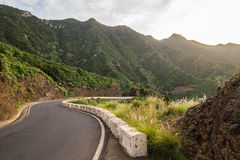 Mountain road in Tenerife Royalty Free Stock Image