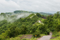 Mountain road ,Thailand Royalty Free Stock Images
