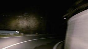 Mountain road timelapse stock video