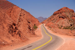Mountain Road to Cafayate Stock Images