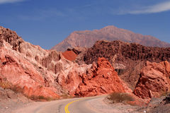 Mountain Road to Cafayate Stock Photo