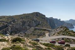 Mountain road. To Cap de Formentor, Mallorca, Spain Royalty Free Stock Photos