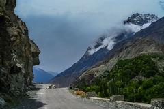 Mountain Road to Chitral Royalty Free Stock Photos