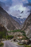 Mountain Road to Chitral Stock Image