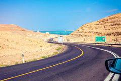 Mountain road to Dead Sea Royalty Free Stock Image