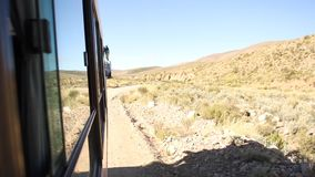 Mountain road to Iruya. On the way to Iruya by bus, through the mountain road stock video footage