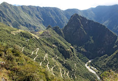 Mountain road to Machu Picchu Royalty Free Stock Image
