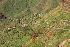 Mountain road to Masca village on Tenerife Stock Photography