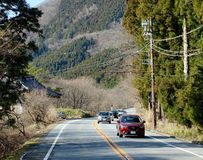 Mountain road to Mount Fuji, Japan Royalty Free Stock Photos
