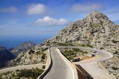 Mountain road to Sa Calobra. Mallorca, Spain Stock Photography