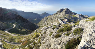 Mountain road to Sa Calobra. Mallorca, Spain Royalty Free Stock Image