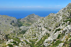 Mountain Road to Sa Calobra Stock Image