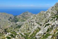 Mountain Road to Sa Calobra Stock Image