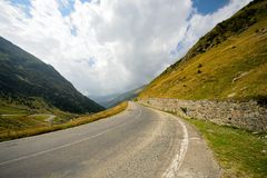 A Mountain Road To The Sky Royalty Free Stock Photo