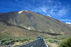 Mountain road to Teide Volcano. Canary Islands. Spain. Stock Image
