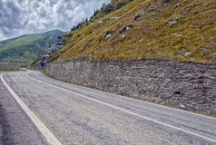 Mountain road on the Transfagarasan Royalty Free Stock Photography