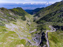 Mountain Road Transfagarasan in the Carpathian Mountains Transylvania Romania royalty free stock photography