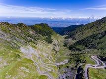 Mountain Road Transfagarasan in the Carpathian Mountains Transyl Royalty Free Stock Photography