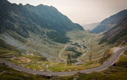 The mountain road of Transfagarasan. Highway, landscape, military, carpathian mountains royalty free stock photography