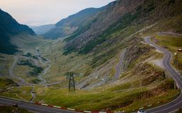 The mountain road of Transfagarasan. Highway, landscape, military, carpathian mountains royalty free stock images