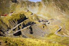 The mountain road of Transfagarasan. Highway, landscape, military, carpathian mountains stock photos