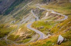 The mountain road of Transfagarasan. Romania, carpathian mountains, transylvania royalty free stock image