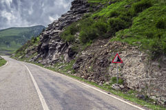 Mountain road on the Transfagarasan Stock Photo