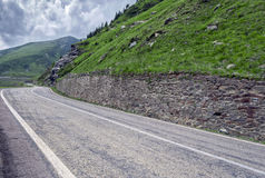 Mountain road on the Transfagarasan Royalty Free Stock Photo