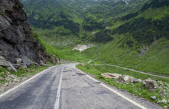 Mountain road on the Transfagarasan Royalty Free Stock Image