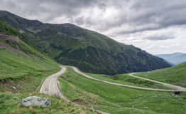 Mountain road on the Transfagarasan Stock Photography
