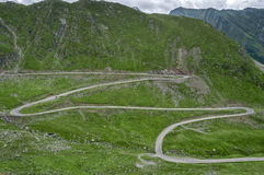 Mountain road on the Transfagarasan Royalty Free Stock Photos