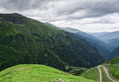 Mountain road on the Transfagarasan Royalty Free Stock Images