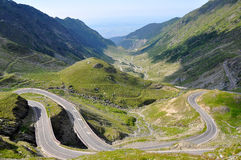 Mountain road. / Transfagarasan road in summer Stock Images