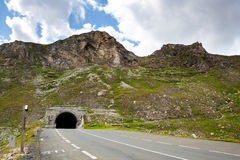 Mountain road. Tunnel in the mountain road Royalty Free Stock Image