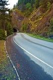 Mountain Road Tunnel Stock Photo