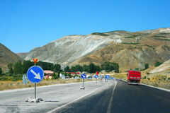 Mountain road in Turkey stock images