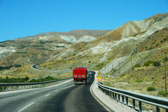 Mountain road in Turkey Stock Image