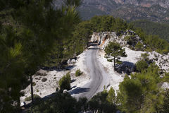 Mountain road in Turkey Stock Photo