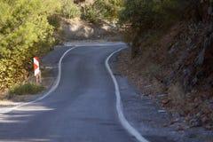 Mountain road in Turkey Royalty Free Stock Photo