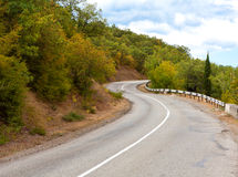 Mountain road turn Royalty Free Stock Photography