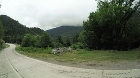 Mountain road turn stock video