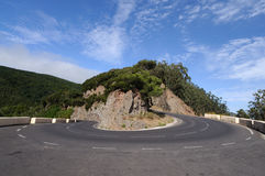 Mountain Road Turn, Tenerife Royalty Free Stock Photos