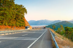 Mountain road with turns Stock Photography