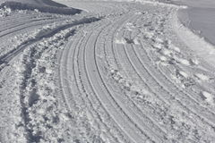 Mountain Road Under Snow Royalty Free Stock Image