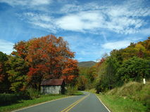Mountain Road Upper Crabtree. Country drive in the Smokies Royalty Free Stock Photography