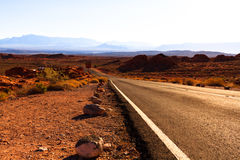 Mountain Road in Valley of Fire State Park Stock Photo