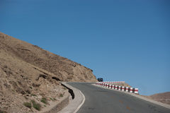 Mountain road view Royalty Free Stock Images