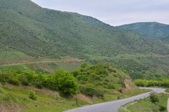 Summer Mountain Road Royalty Free Stock Photography